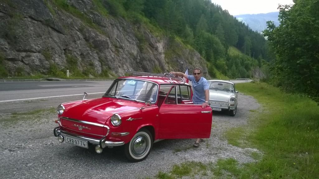 Sobota3 v Rakousku Silnice B21 za obcí Terz řeka Salza směrem Pölten